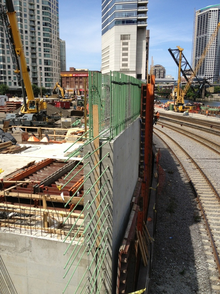 High Rise construction, concrete reinforcement